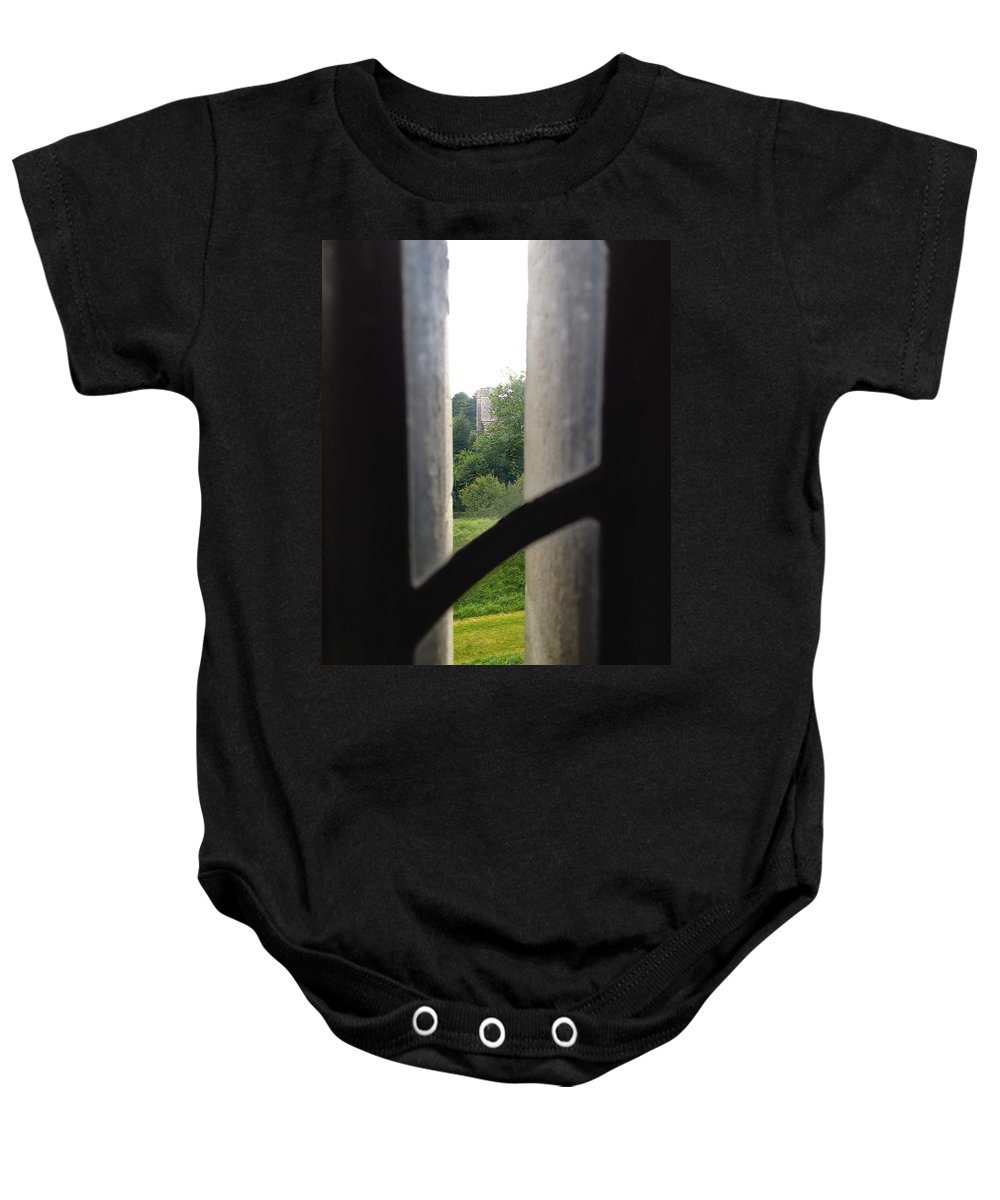 Photograph Baby Onesie featuring the photograph Tower View by Nicole Parks