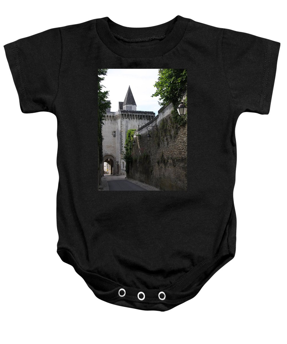 Town Gate Baby Onesie featuring the photograph Town Gate - Loches - France by Christiane Schulze Art And Photography