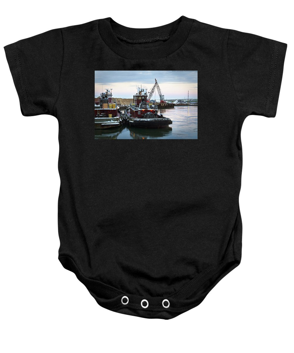 Town Point Baby Onesie featuring the photograph Town Point by Eric Gendron