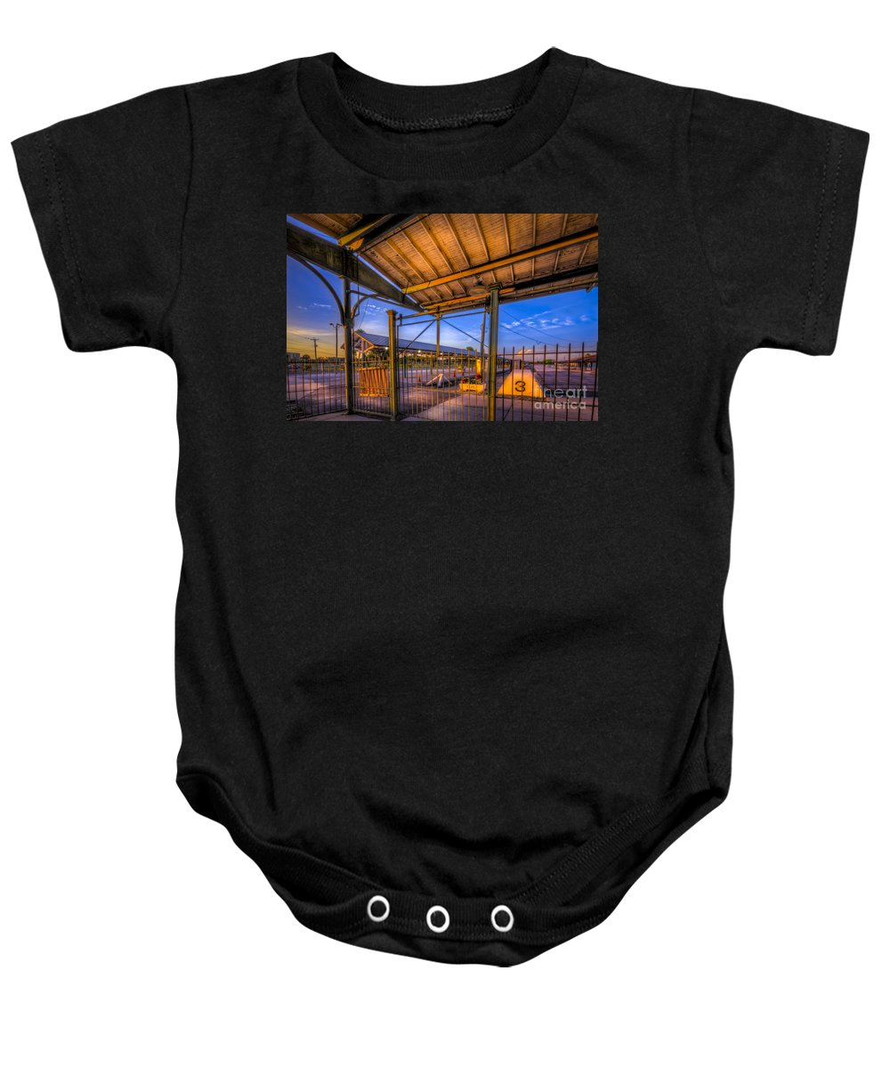 Trains Baby Onesie featuring the photograph Track 3 by Marvin Spates