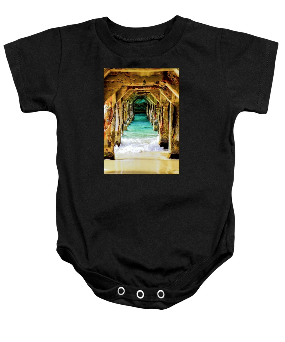 Waterscapes Baby Onesie featuring the photograph Tranquility Below by Karen Wiles