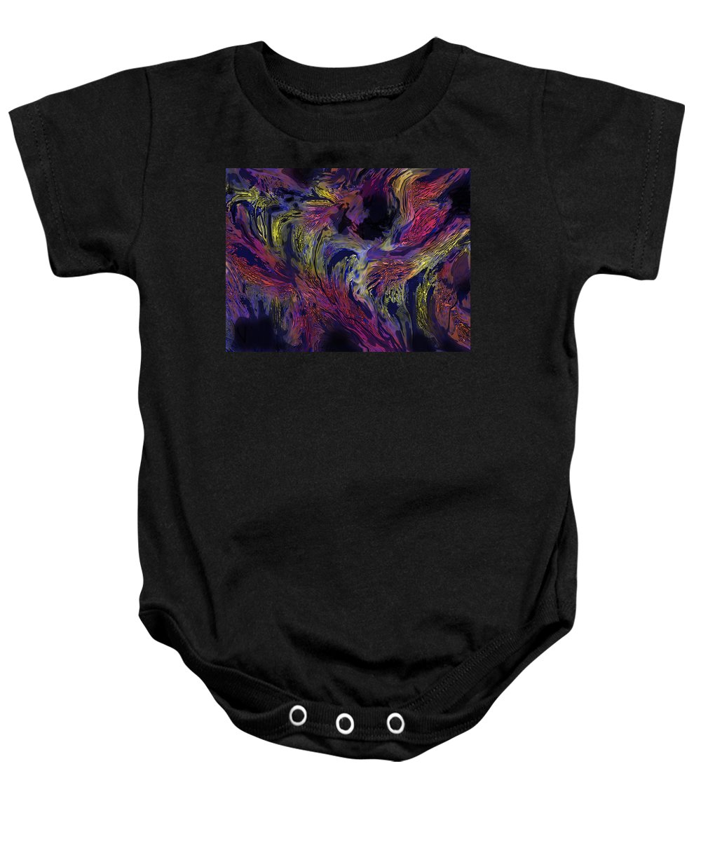 Abstract Baby Onesie featuring the digital art Transitions by Ian MacDonald