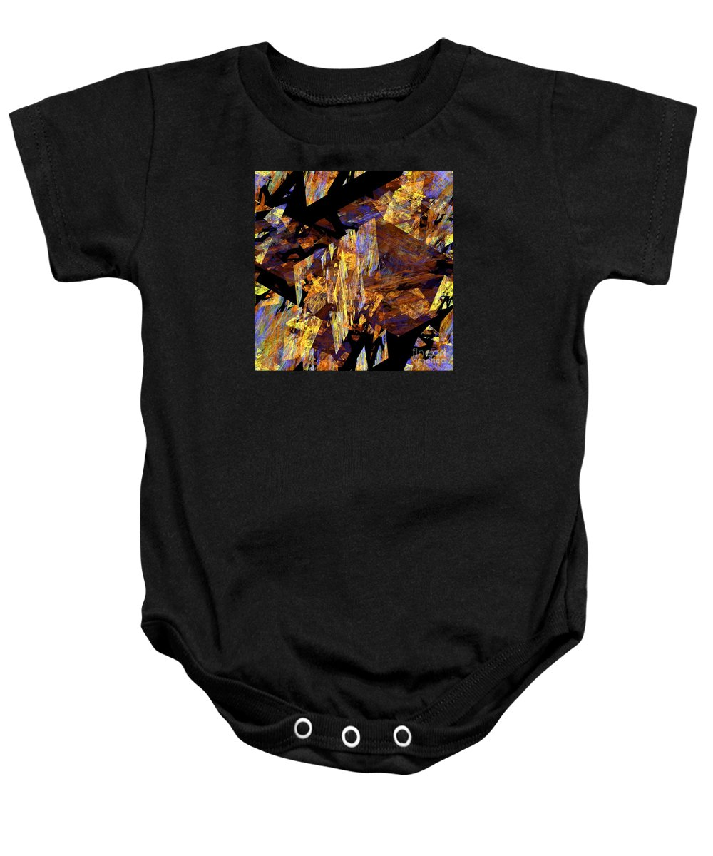 Abstract Art Baby Onesie featuring the digital art Transmutation - 2 by Zygis Zaksis