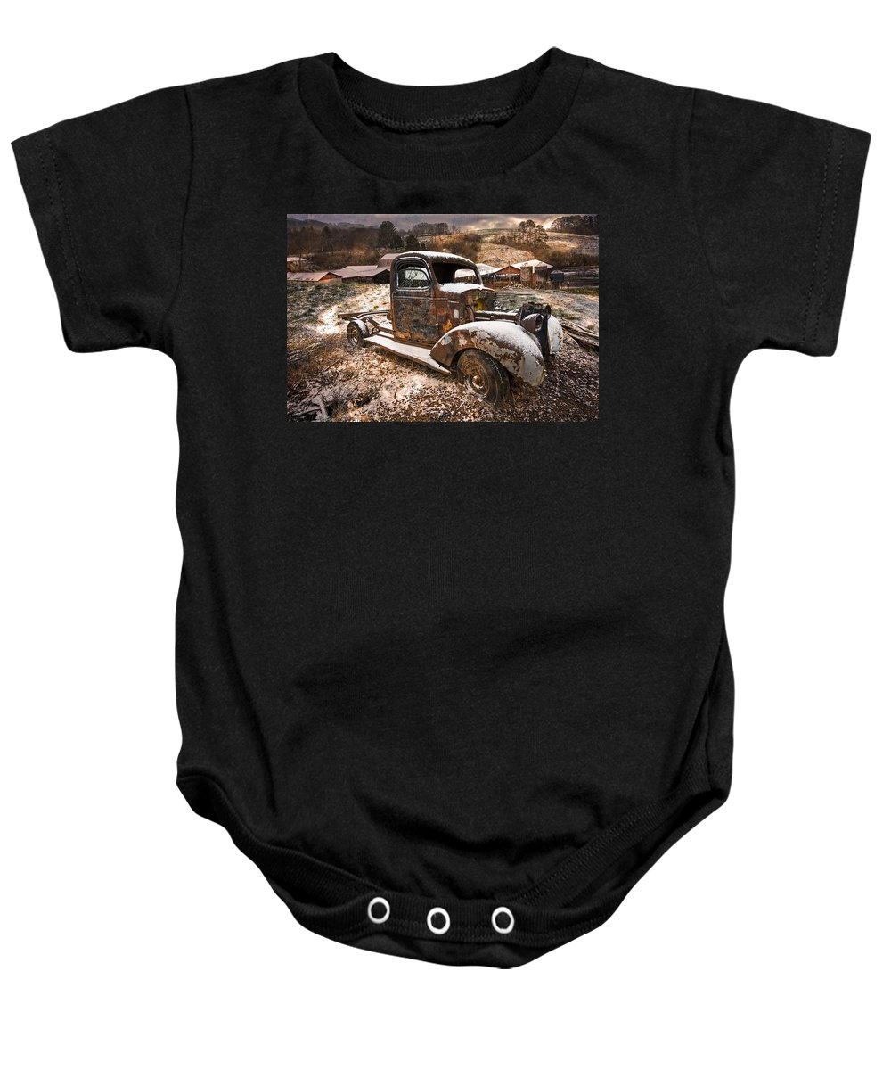 Appalachia Baby Onesie featuring the photograph Treasures by Debra and Dave Vanderlaan