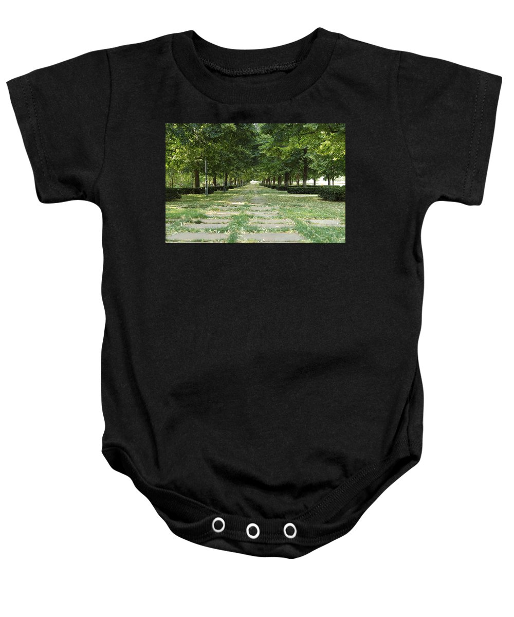 Kansas City Baby Onesie featuring the photograph Tree Lined by Ken Kobe