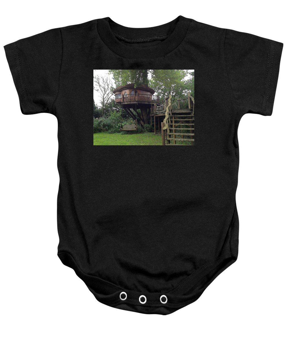 Photograph Baby Onesie featuring the photograph Tree Penthouse by Nicole Parks