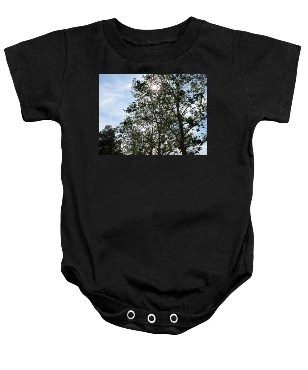 Nature Baby Onesie featuring the photograph Trees At The Park by Laurel Powell