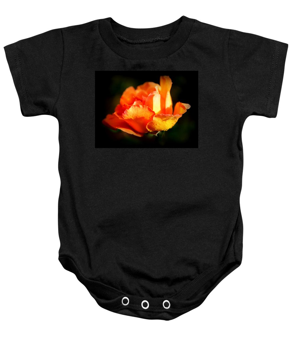 Tropicana Baby Onesie featuring the photograph Tropicana by Karen Wiles