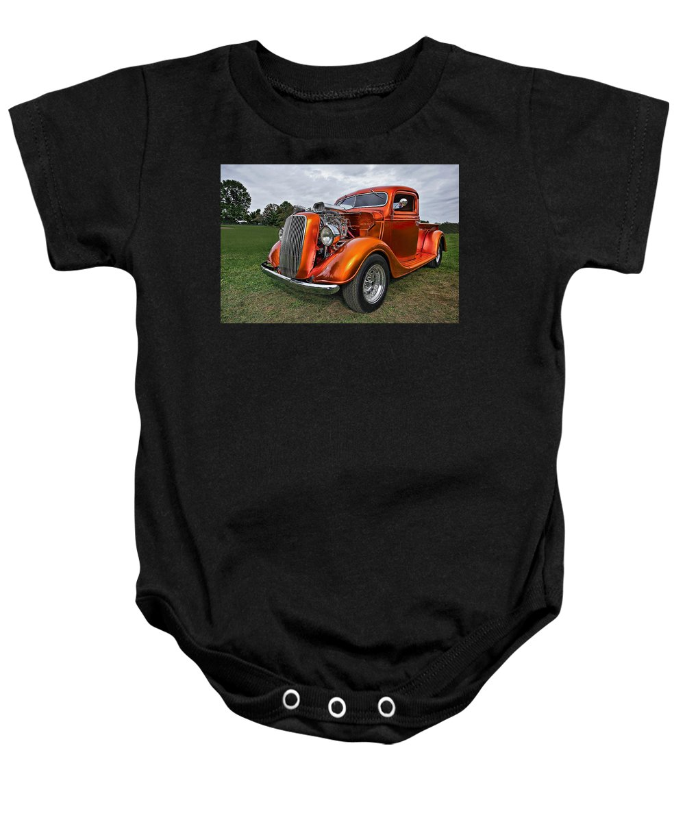 Transportation Baby Onesie featuring the photograph Truck Rod by Marcia Colelli