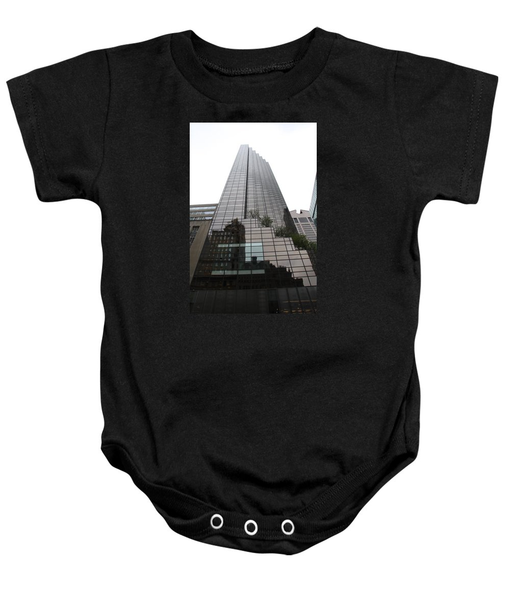 Building Baby Onesie featuring the photograph Trump Tower Reflection New York by Christiane Schulze Art And Photography