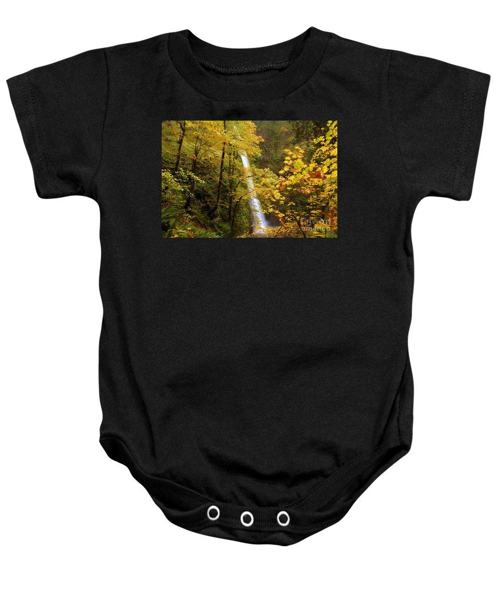 Tunnel Falls Baby Onesie featuring the photograph Tunnel Falls by Adam Jewell