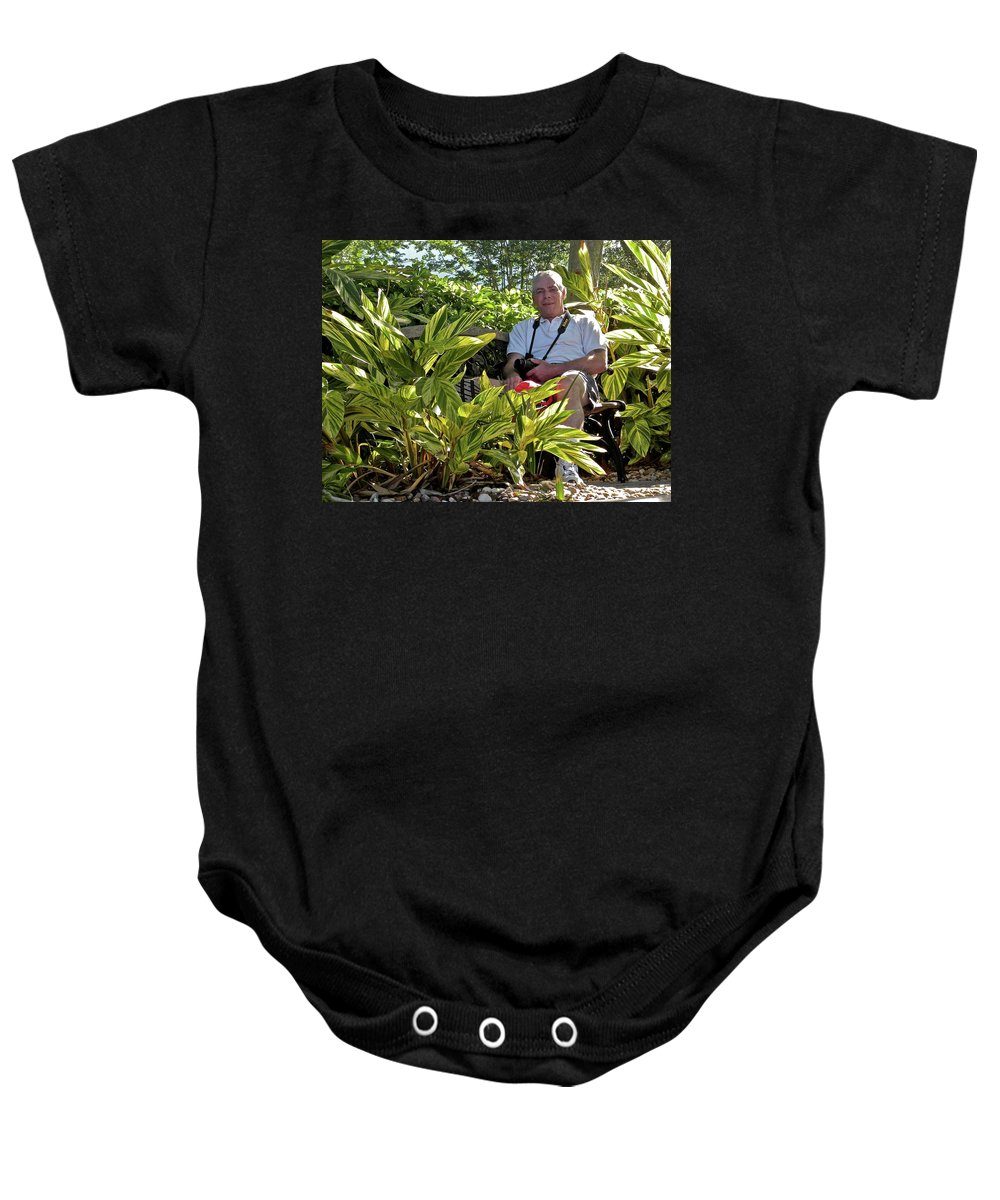 Tom Woolworth Baby Onesie featuring the photograph Tw Self Portrait by Thomas Woolworth
