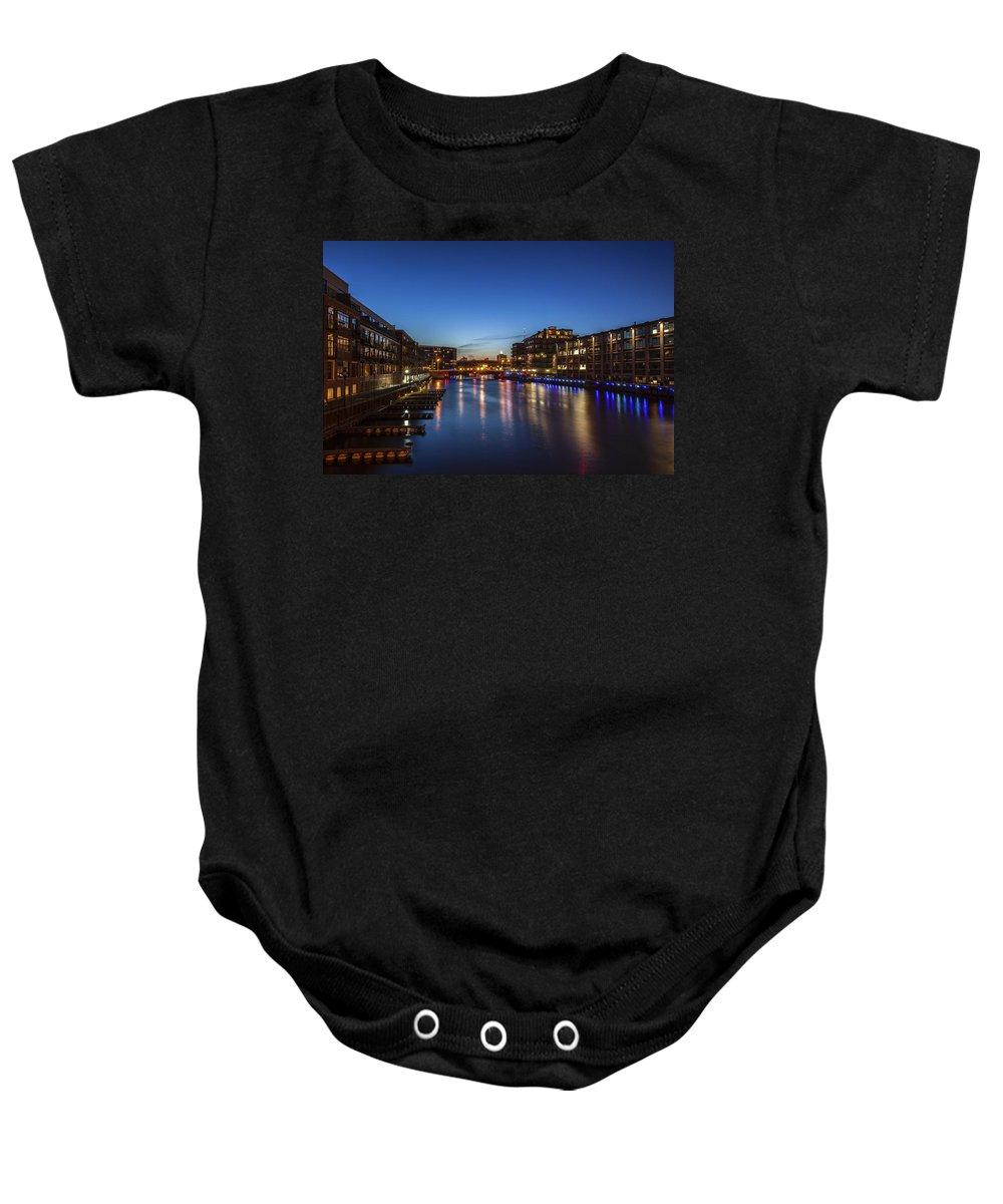 Www.cjschmit.com Baby Onesie featuring the photograph Twilight Docks by CJ Schmit