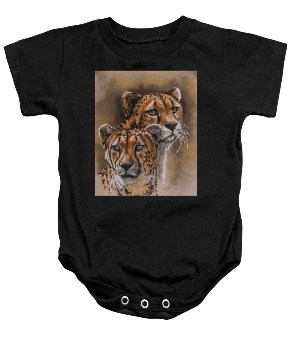 Cheetah Baby Onesie featuring the pastel Twins by Barbara Keith