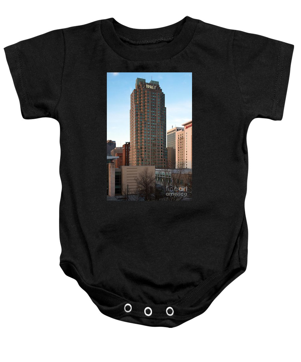 Raleigh Baby Onesie featuring the photograph Two Hannover Square by Bill Cobb