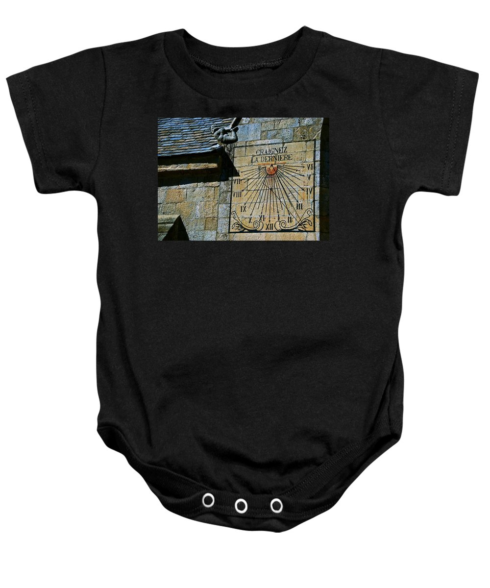 Sundial Baby Onesie featuring the photograph Two-thirty? by Eric Tressler
