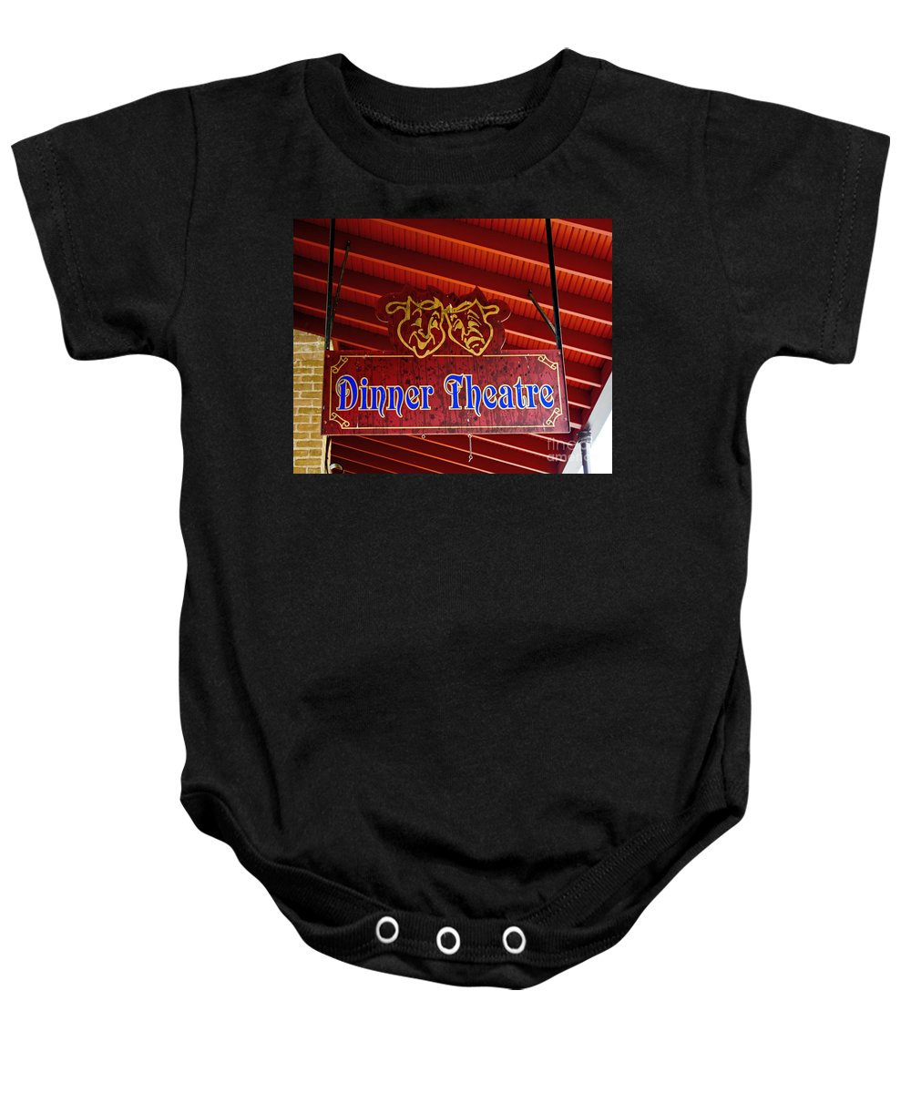 Sign Baby Onesie featuring the photograph Two Tickets Please by TN Fairey