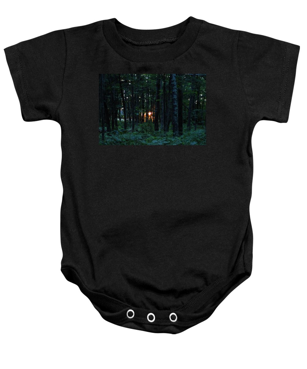 Logging Baby Onesie featuring the photograph Udell Sunset by Joseph Yarbrough