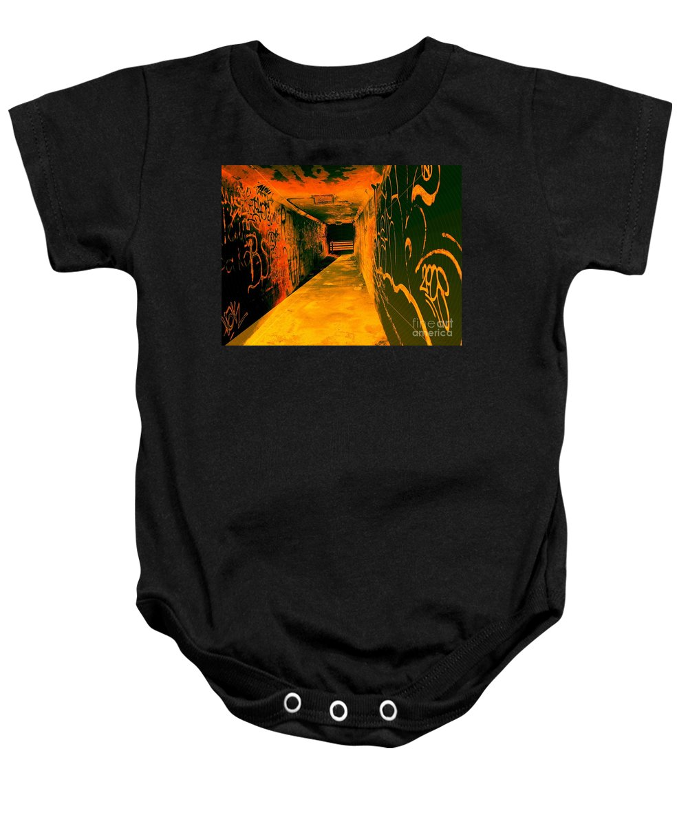 Tunnel Baby Onesie featuring the photograph Under The Bridge by Ze DaLuz