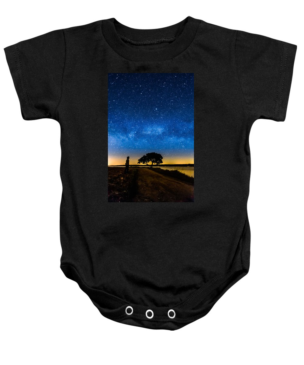 Milky Way Baby Onesie featuring the photograph Under The Milky Way II by Marco Oliveira