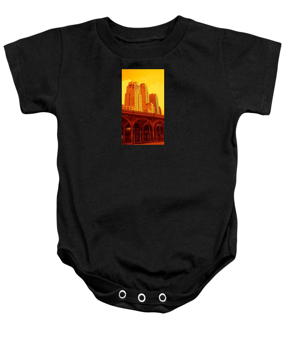 Manhattan Prints And Posters Baby Onesie featuring the photograph Upper West Side And Hudson River Manhattan by Monique's Fine Art
