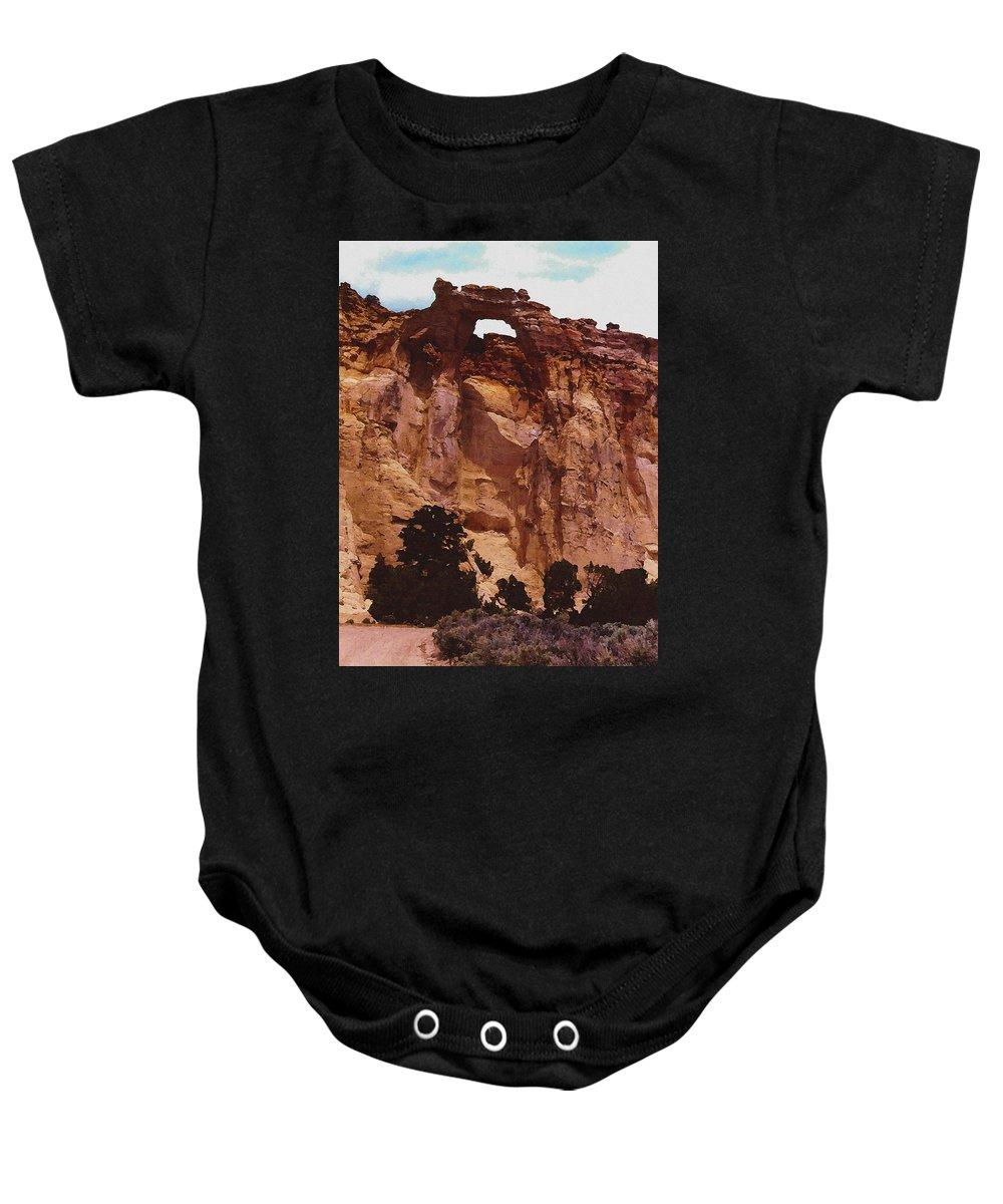 Digital Baby Onesie featuring the digital art Utah Arch by David Hansen