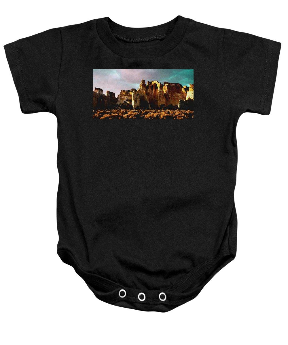Digital Baby Onesie featuring the digital art Utah Country 1 by David Hansen