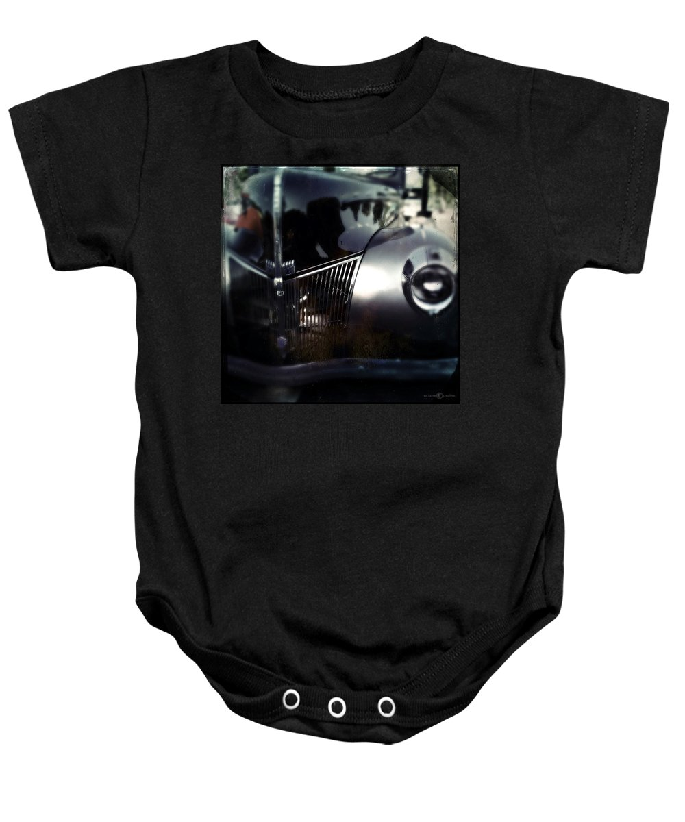 Classic Baby Onesie featuring the photograph V8 Grill by Tim Nyberg
