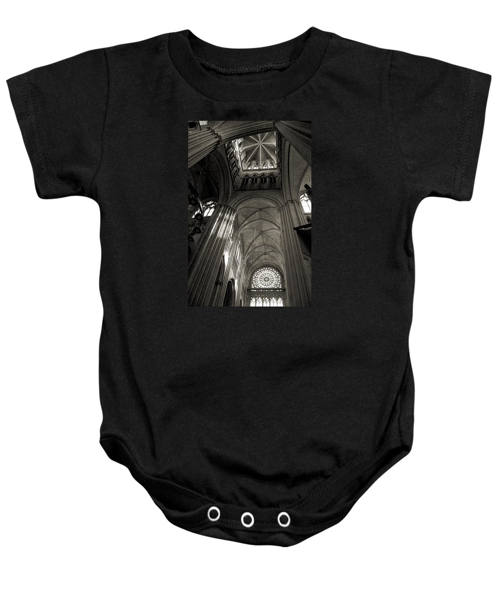 Vaults Baby Onesie featuring the photograph Vaults Of Rouen Cathedral by RicardMN Photography