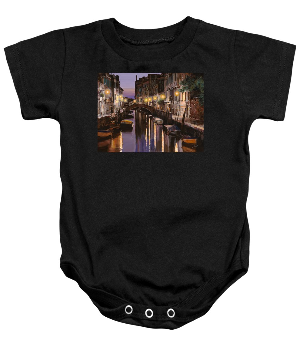 Venice Baby Onesie featuring the painting Venezia Al Crepuscolo by Guido Borelli