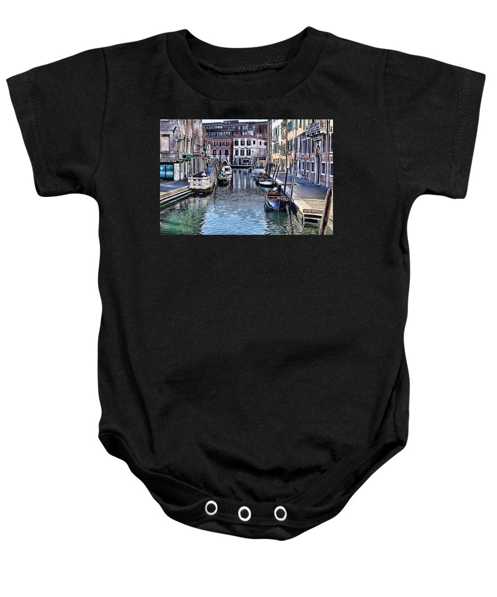 Tom Prendergast Baby Onesie featuring the photograph Venice Italy Iv by Tom Prendergast