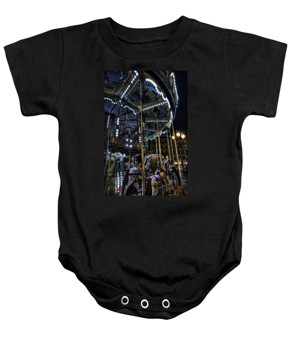 Arch Baby Onesie featuring the photograph Vertical Carousel by Evie Carrier