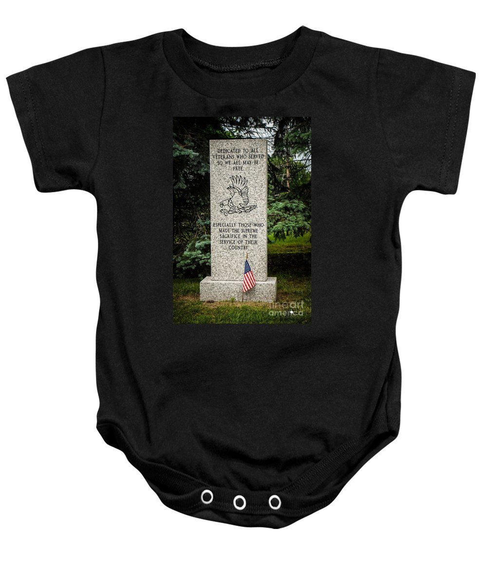 Veterans Baby Onesie featuring the photograph Veterans Memorial by Grace Grogan