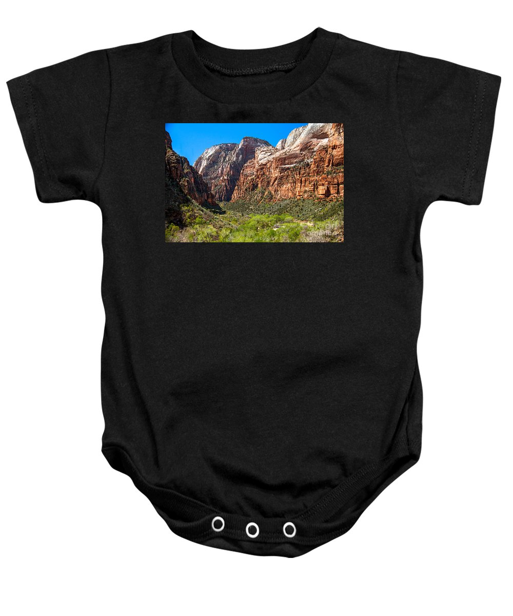 Zion National Parks Baby Onesie featuring the photograph View From Weeping Rock by Robert Bales