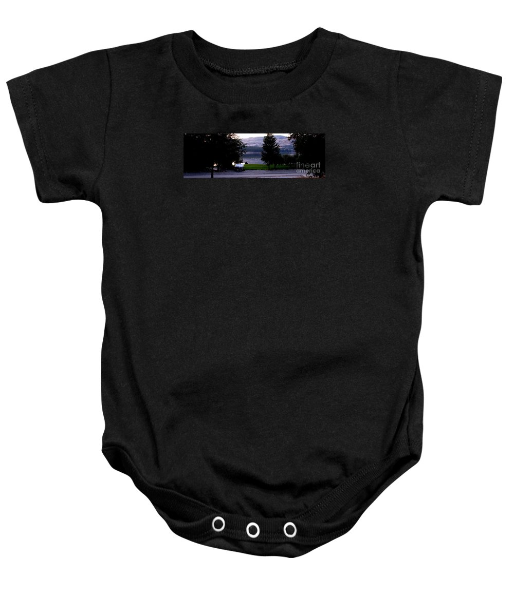 Art For The Wall...patzer Photography Baby Onesie featuring the photograph View To Columbia by Greg Patzer