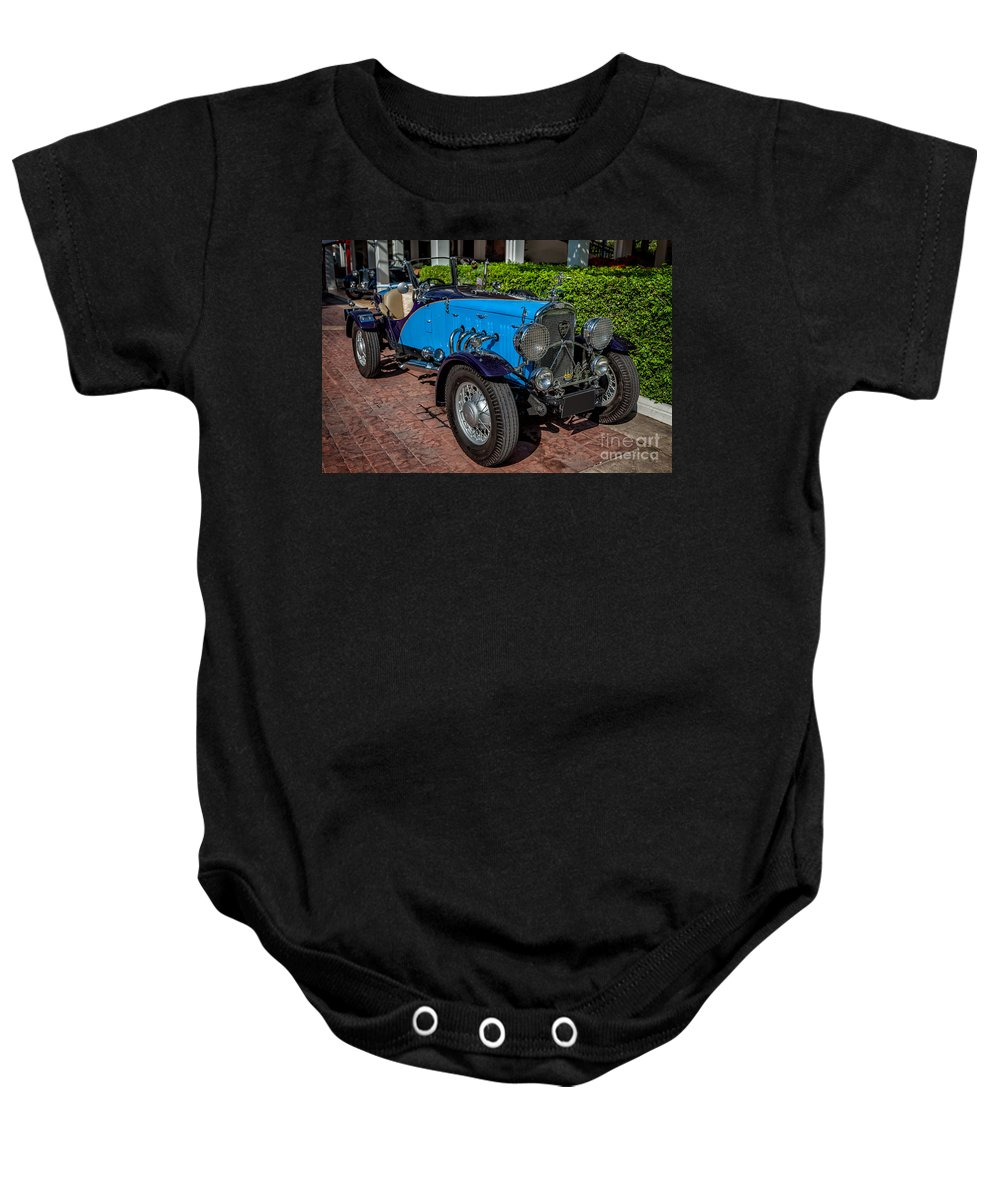 201 Baby Onesie featuring the photograph Vintage Peugeot 201 by Adrian Evans