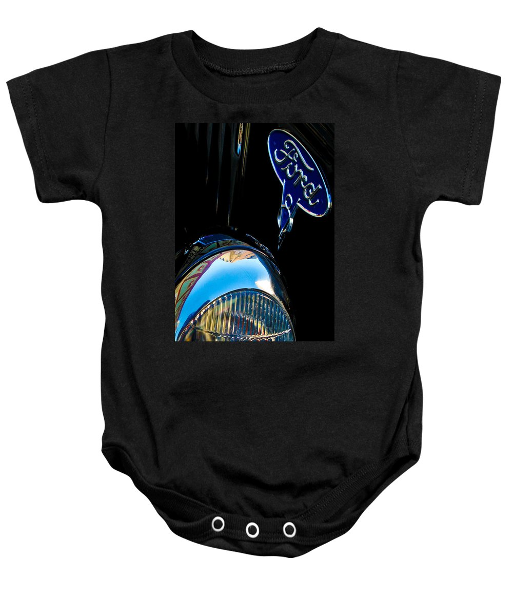 Rides Baby Onesie featuring the photograph Vintage V8 by Digital Kulprits