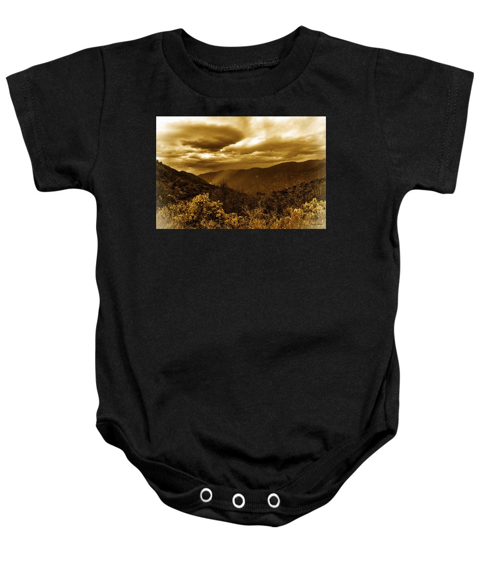 Vintage Baby Onesie featuring the photograph Vintage Weather by Angela Stanton