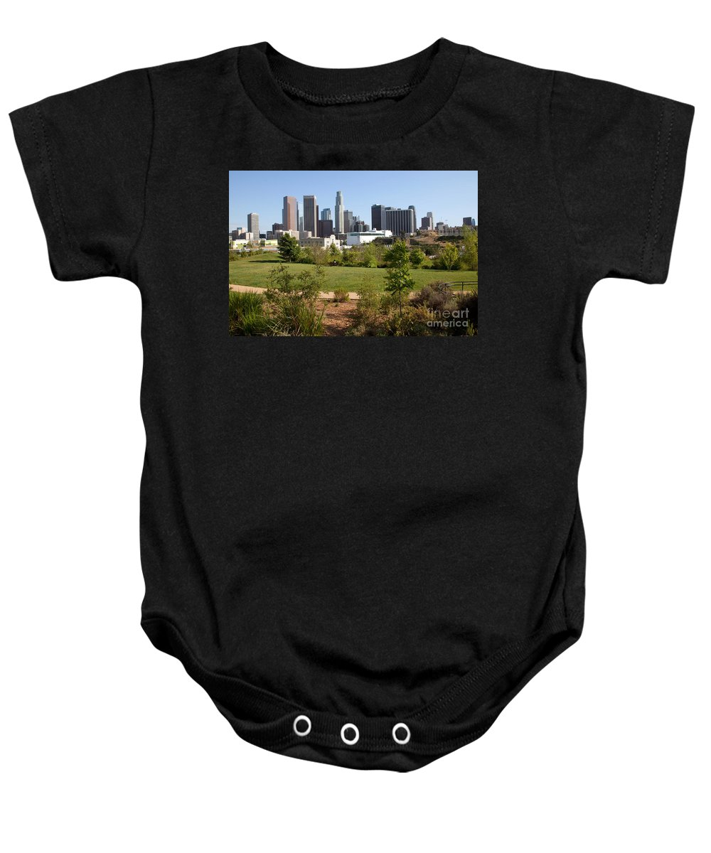 Los Angeles Baby Onesie featuring the photograph Vista Hermosa Park Los Angeles California by Bill Cobb
