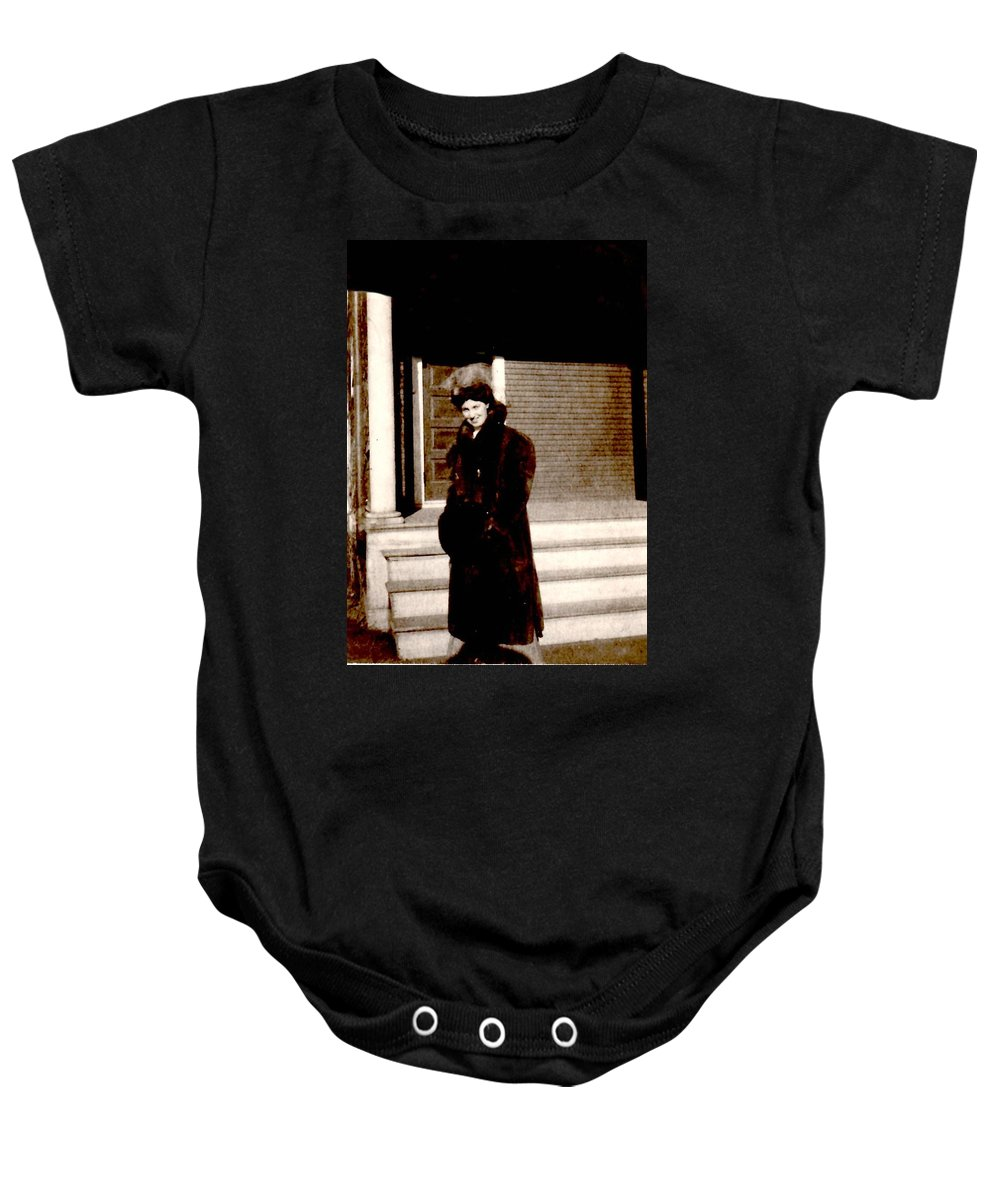 Vintage Baby Onesie featuring the photograph Waiting For My Driver by Image Takers Photography LLC