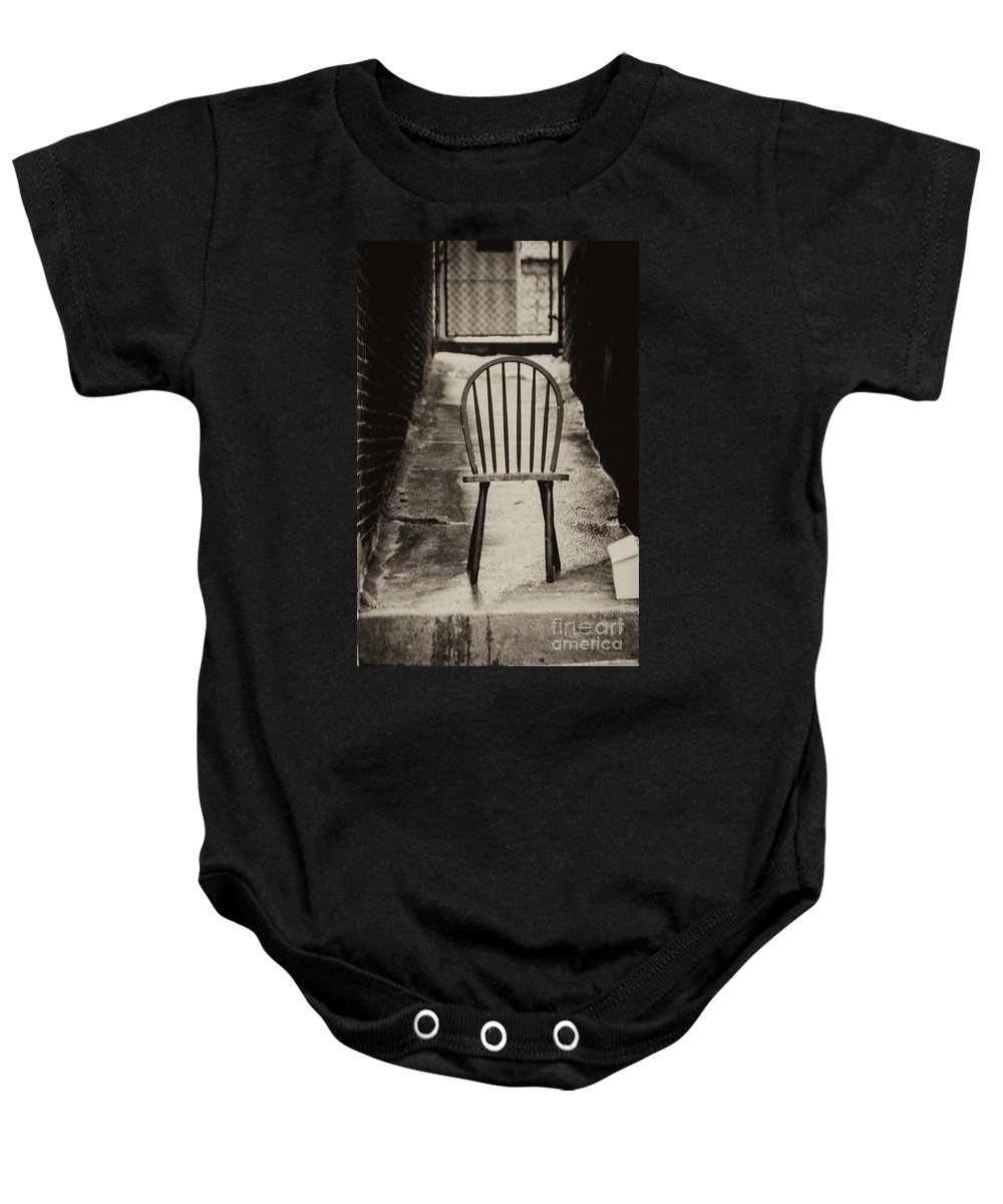 Winter Baby Onesie featuring the photograph Waiting For Snow by Jay Ressler