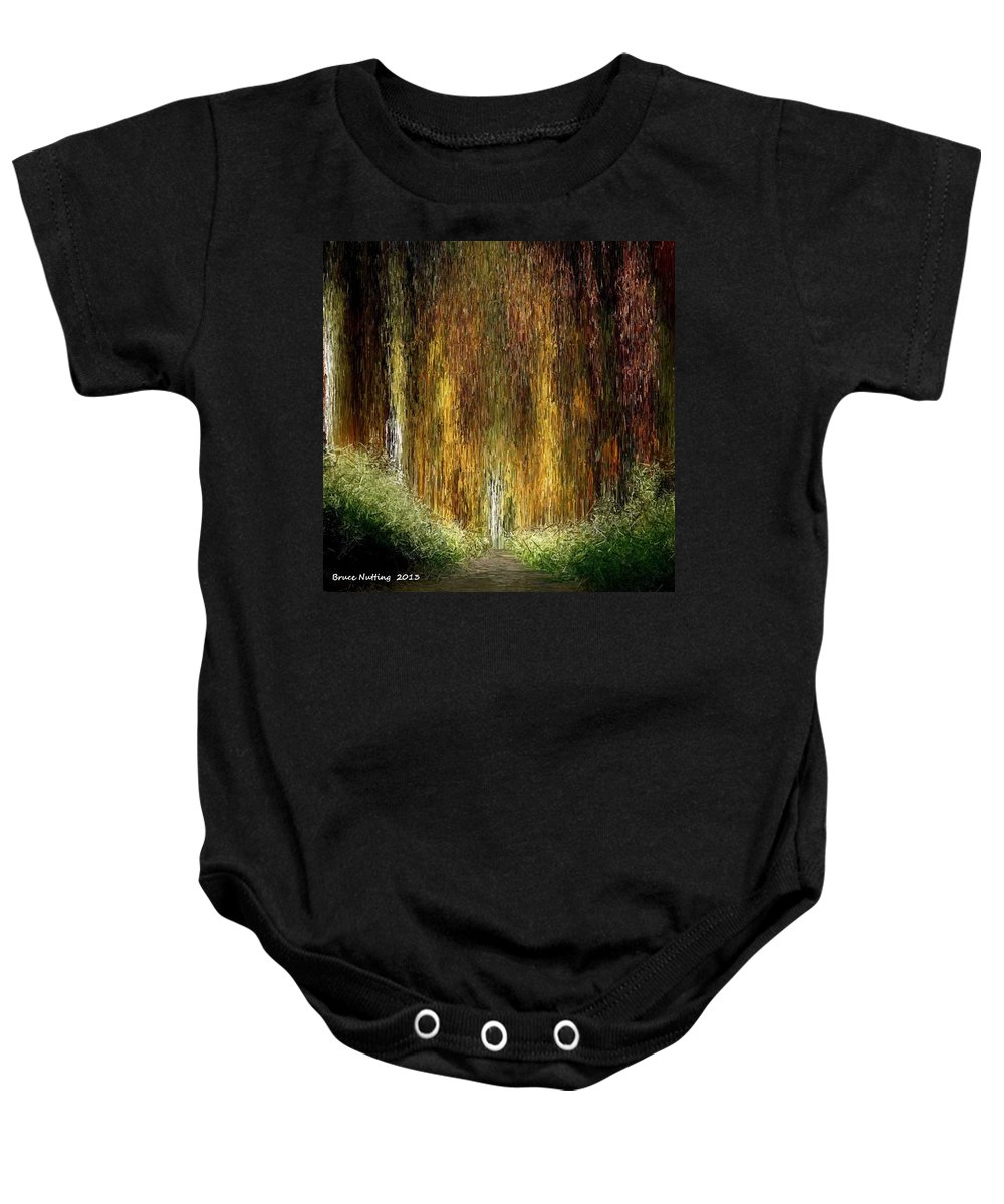 Trees Baby Onesie featuring the painting Walk In The Forest by Bruce Nutting