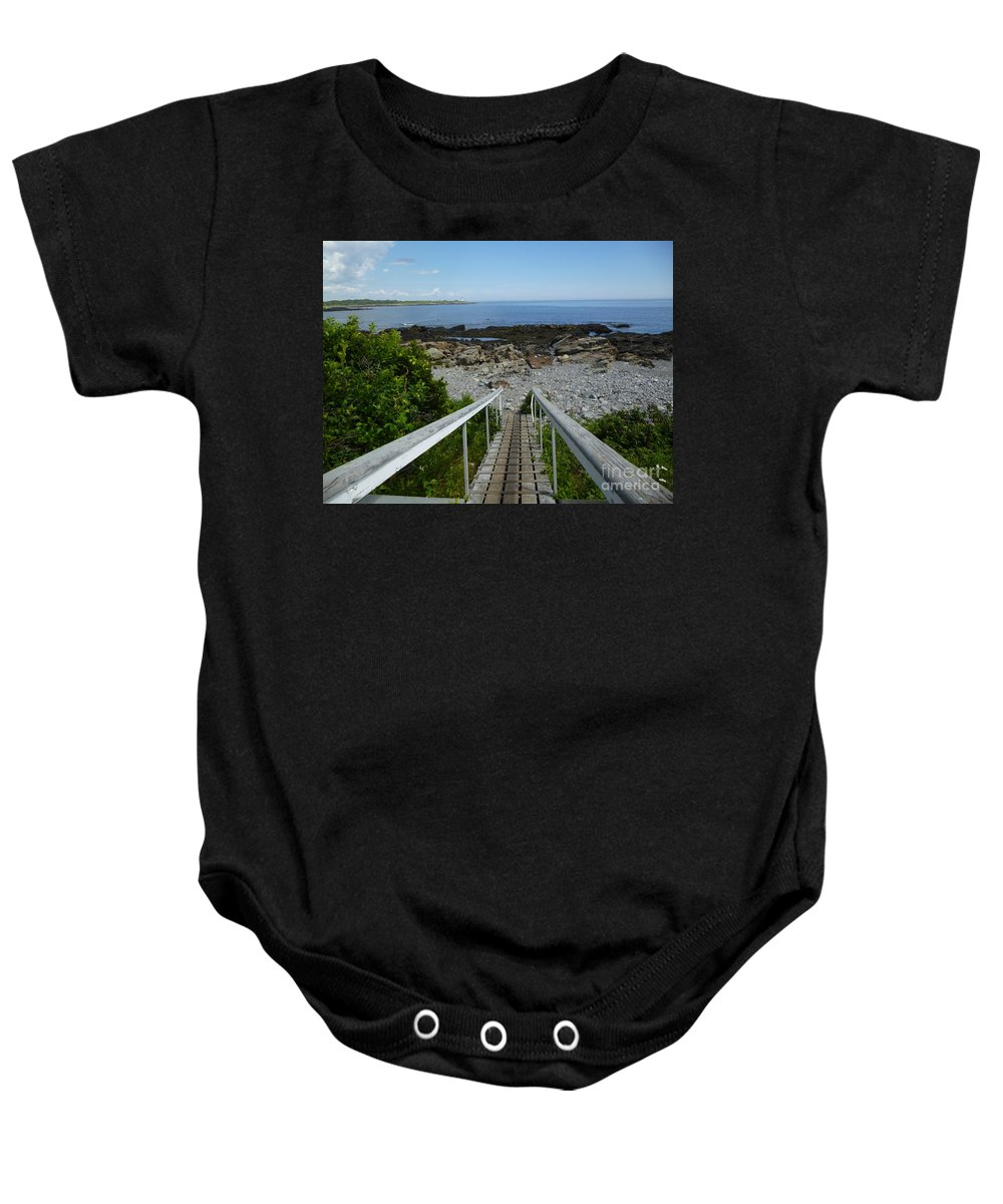 Walking Baby Onesie featuring the photograph Walking Down by Nancie DeMellia