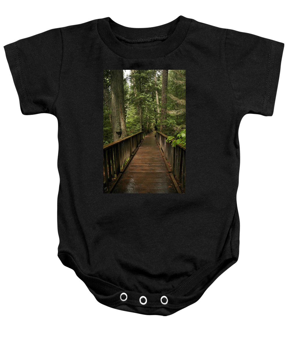 Forest Baby Onesie featuring the photograph Walkway Into Paradise by Jeff Swan