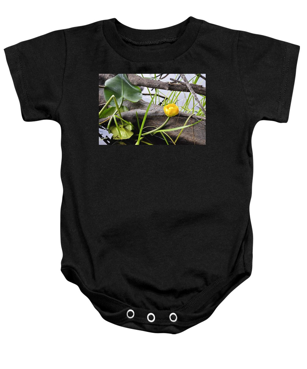 Lily Baby Onesie featuring the photograph Water Lily by Cathy Mahnke