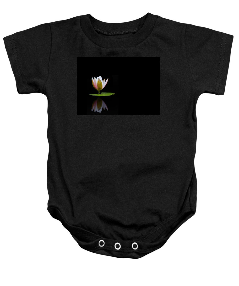 Water Lily Baby Onesie featuring the photograph Water Lily by Stephanie McDowell