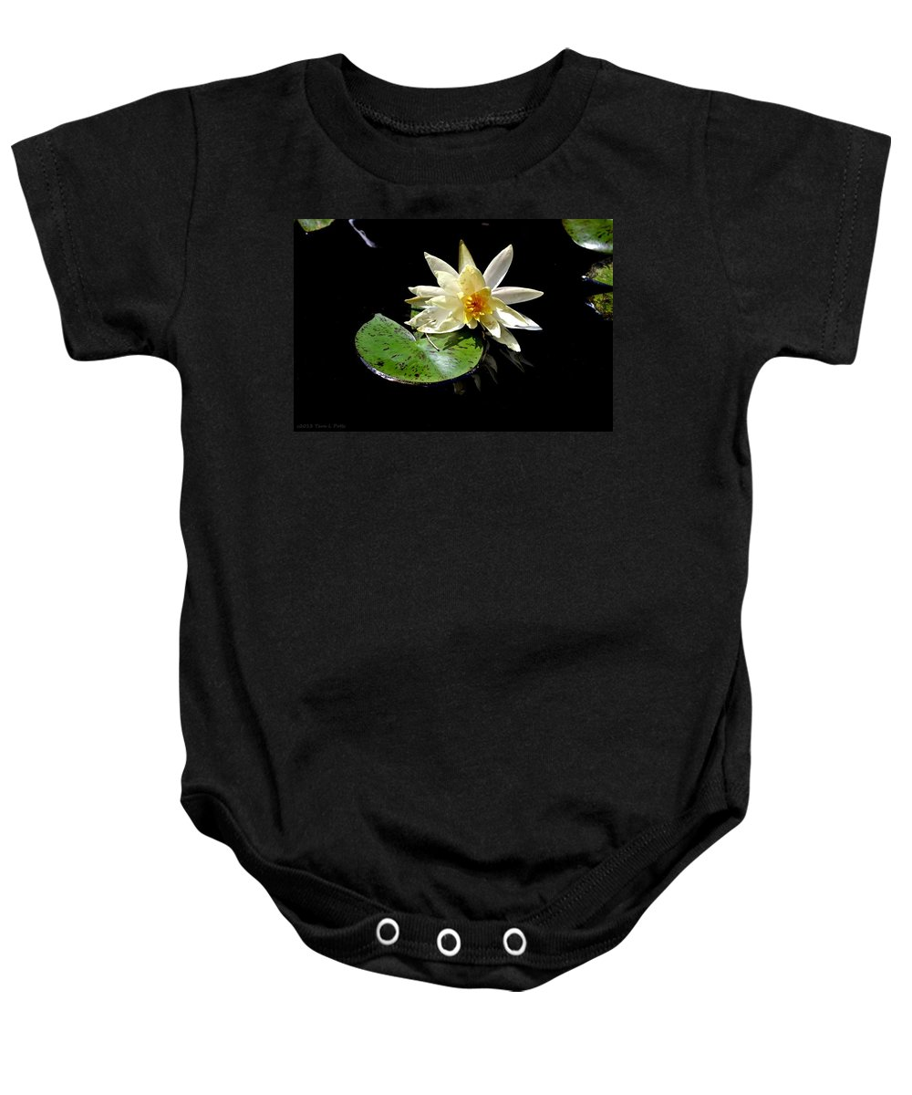 Water Lily Baby Onesie featuring the photograph Water Lily by Tara Potts