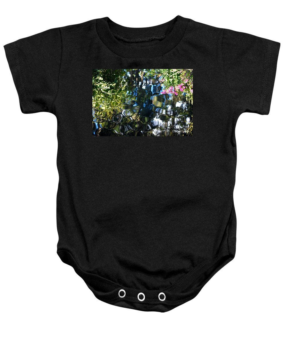 Pond Baby Onesie featuring the photograph Water Reflections 9 by Nancy Mueller