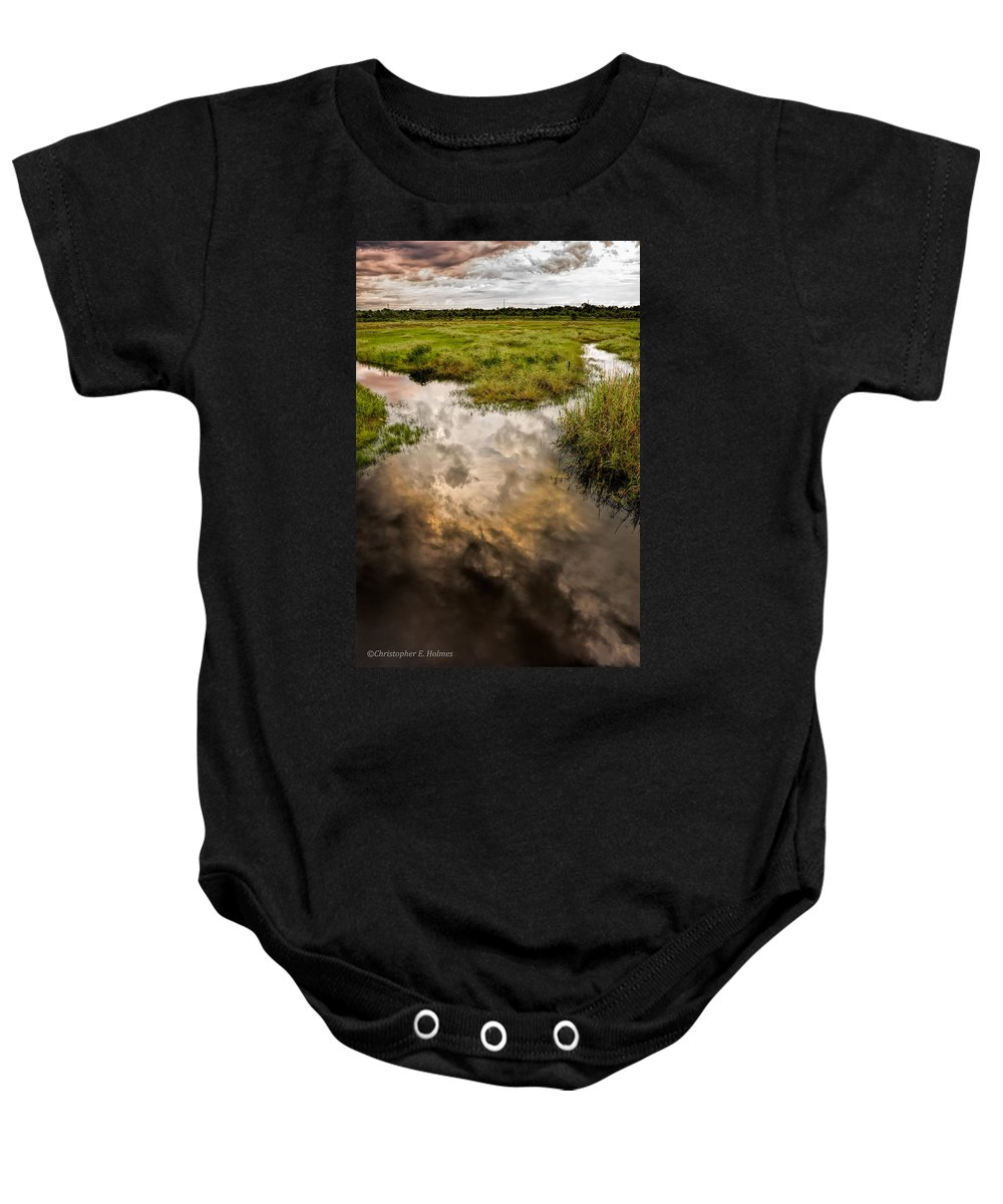 Christopher Holmes Photography Baby Onesie featuring the photograph Weather Reflected by Christopher Holmes