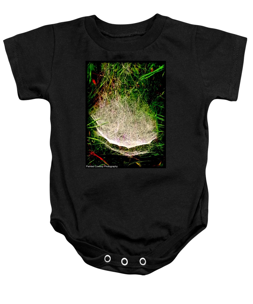 Web Baby Onesie featuring the photograph Web3 by Daniel Jakus